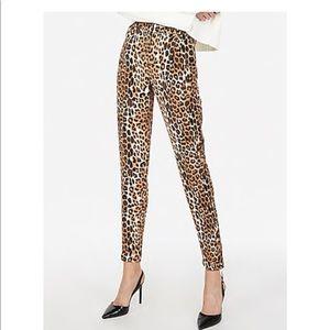 Brand new Express dress pants leopard print